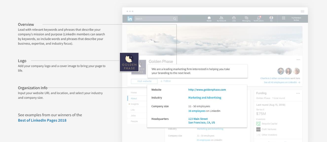 Linkedin Page Setup